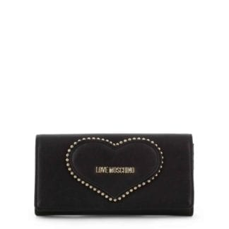 love moschino black clutch bag
