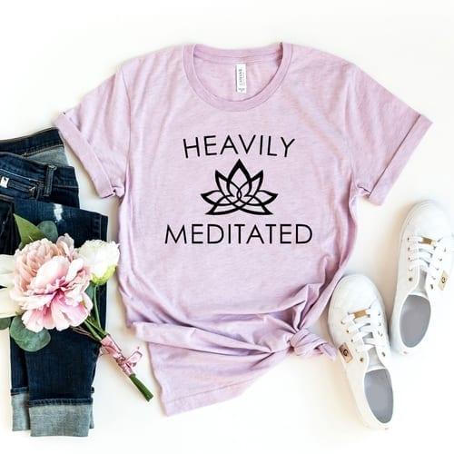 Tell the Words Heavily Meditated T-Shirt 1