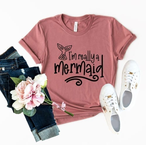 Very Cute I'm Really a Mermaid T-Shirt 1