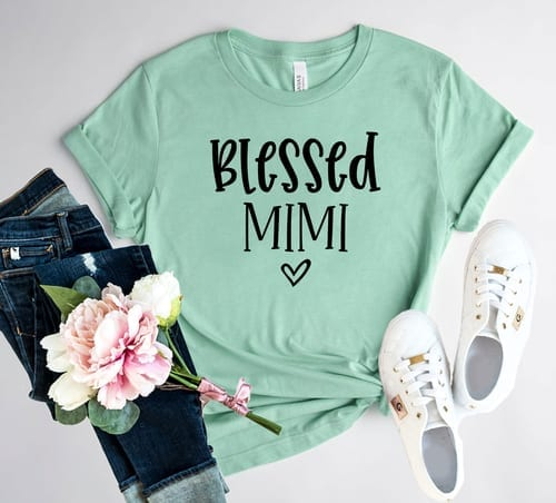 Cute and Mindful Blessed Mimi T-Shirt 1