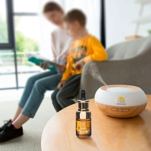 Essential Oil Diffuser with 30ml Lavender Sample 14