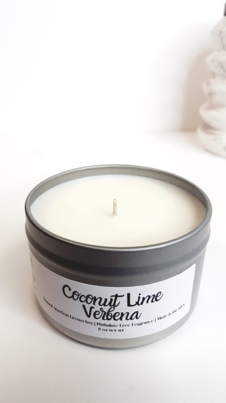 Coconut Lime Verbena Natural Soy Candle 1
