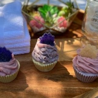 Berry Clean Waffle Cupcake Soap